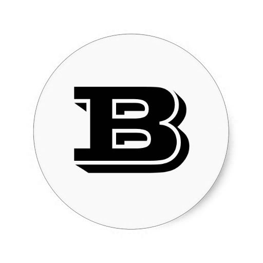 Capital letter b small round stickers by janz