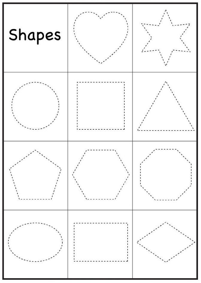 Preschool Worksheets Shape With Images Printable Preschool