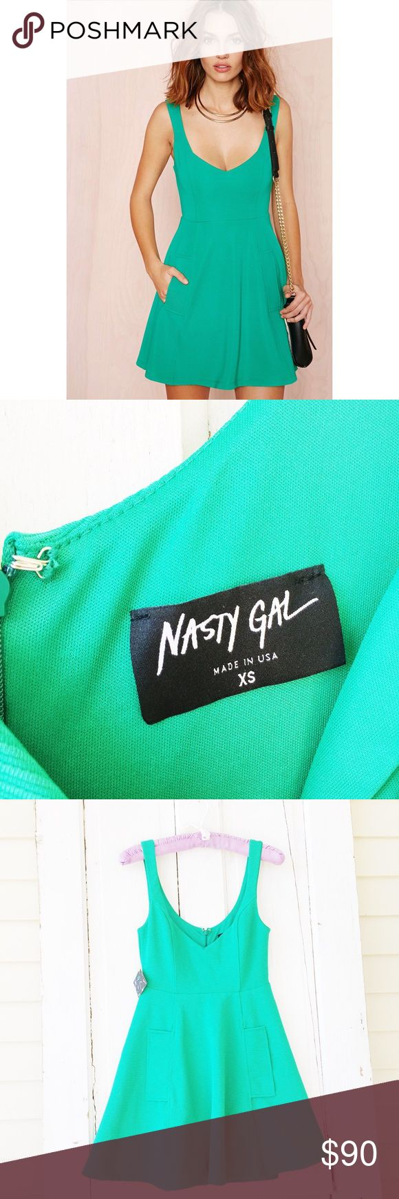 Nast Gal Skater Dress ★ Excellent Condition  ★ Reasonable Offers Accepted  ★ Measurements Available Upon Request ★ 95% polyester, 5% spandex  ★ NO TRADES ★ NO MODELING  (halg469) Nasty Gal Dresses Mini