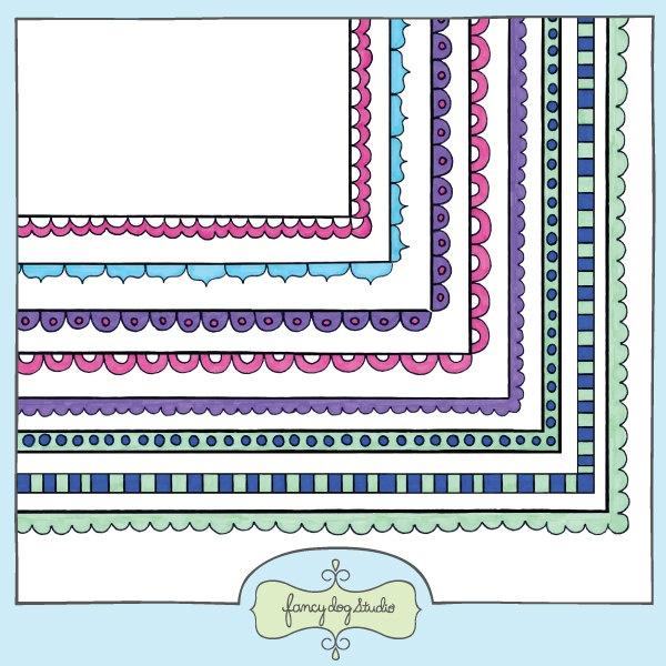Watercolor Border Clipart Frames Doodle Borders Clip Art ...