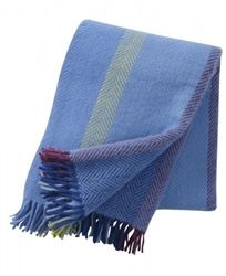 Klippan Birka Blue throws are now in the sale at Northlight