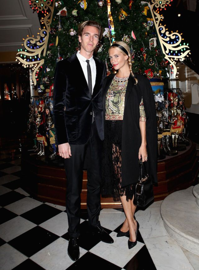 James Cook And Poppy Delevigne Attend Claridge 39 S Christmas