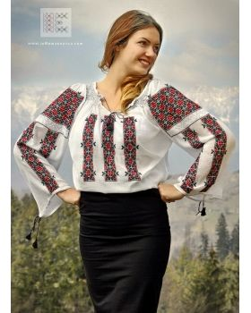 lovely Romanian traditional blouse. It takes 4 weeks to complete the embroidery of this delicate top. Worldwide shipping from our online shop: www.ieRomaneasca.com #romanianblouse #vtshyvanka