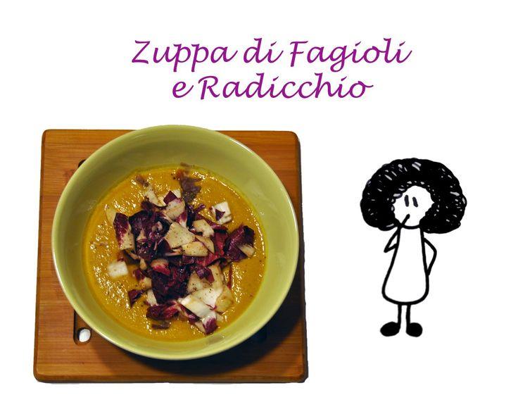 Zuppa di Fagioli e Radicchio #zuppa #radicchio #ricetta #videoricetta #video #youtube