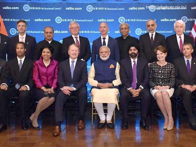 Slideshow : PM Modi with business leaders in USIBC - PM Narendra Modi's five-nation tour to Afghanistan, Qatar, Switzerland, US and Mexico - The Economic Times