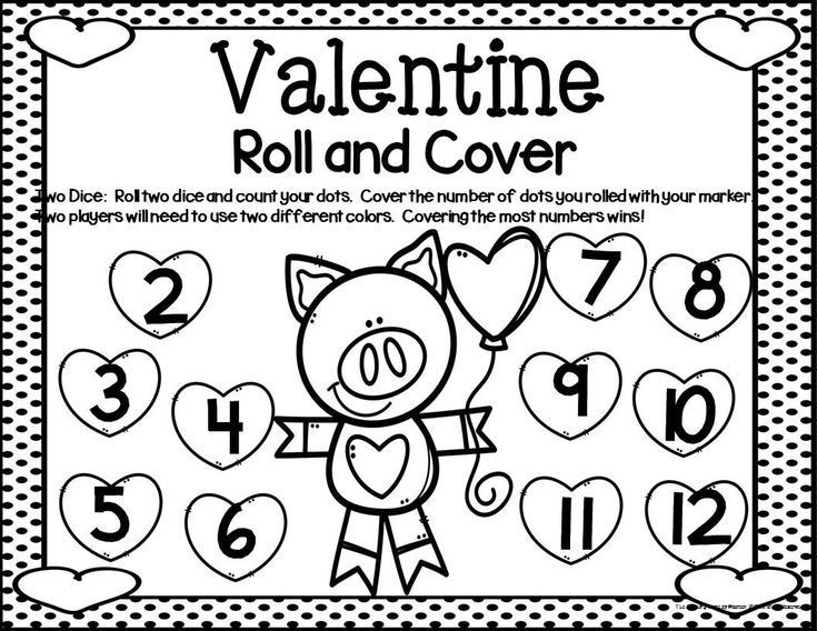 Valentine Math Center Dice Games For K 2nd Special Education Home Schooled Children Resource Includes Va Math Valentines Kids Math Worksheets Math Centers
