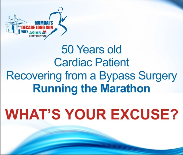 75 of our cardiac patients who have undergone bypass surgeries, run the Standard Chartered Mumbai Marathon every year.
