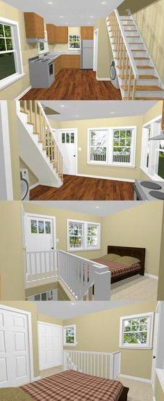 12x16 Tiny House -- #12X16H3A -- 364 sq ft - Excellent Floor Plans