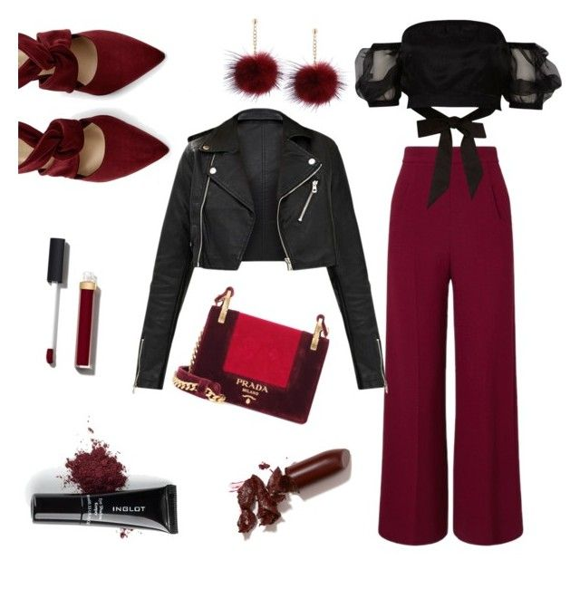 """""""Untitled #12"""" by lillus-lako-ll on Polyvore featuring Prada, Inglot, Roland Mouret, River Island, Chanel, LAQA & Co., men's fashion and menswear"""