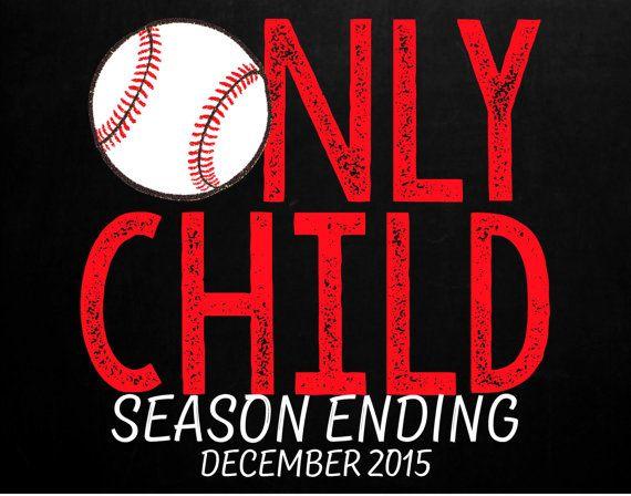 Baseball Themed Pregnancy Announcement for Big by MMasonDesigns