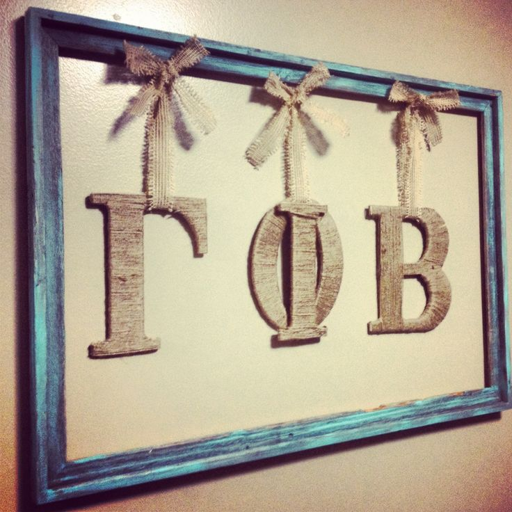 cute craft for our living room! gamma phi beta