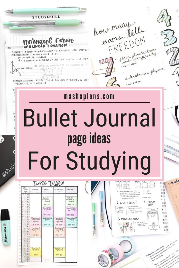 Bullet Journal For School: Page Ideas
