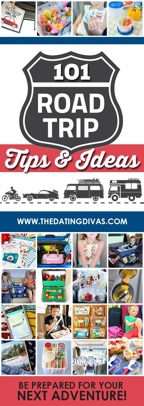 Our next road trip is going to be so fun and organized with all of these travel tips and ideas! www.TheDatingDivas.com