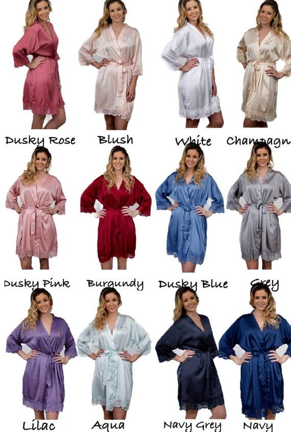 b8f3dda058d Bridesmaid robes Set of 1234567891011121314