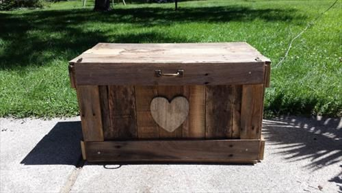 Wood pallet trunk
