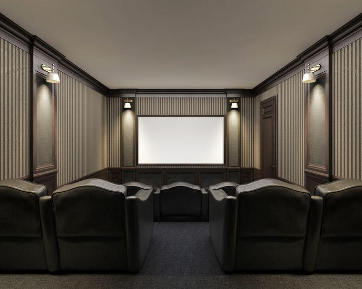 salle de cin ma domicile salle de cin ma la maison pinterest cin ma et d coration. Black Bedroom Furniture Sets. Home Design Ideas