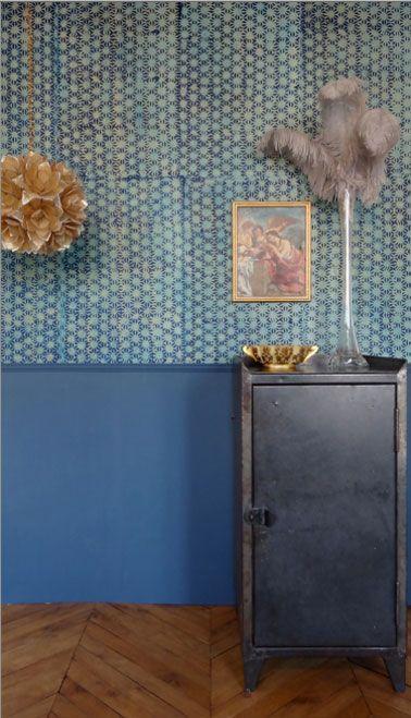 Papier peint vintage, un style déco que le salon adore  Style salon ...