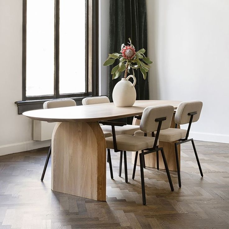 59 Modern Wooden Dining Table Solid, Solid Wood Dining Room Sets