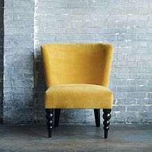 Veronica Turned Leg Chair - Solids