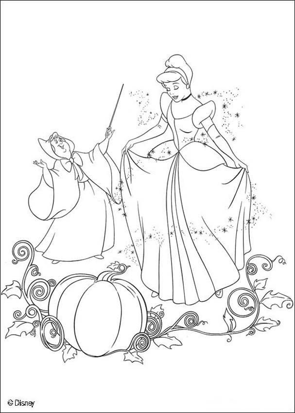 cinderella coloring book pages cinderella with the fairy godmother