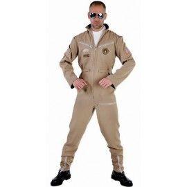 Déguisement pilote de chasse homme luxe Déguisement aviateur, top gun, carnaval, uniforme, Magic by Freddy's