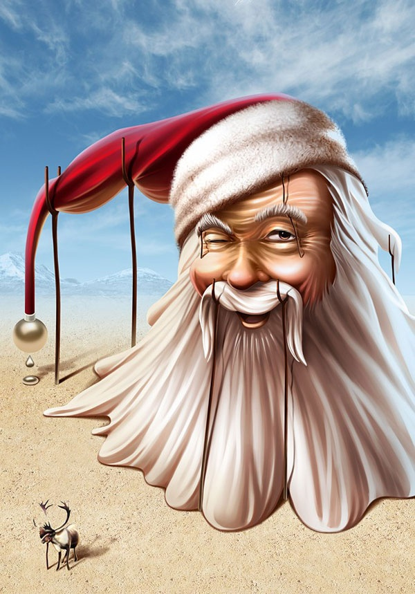 30 Creative Santa Claus Illustrations ~ Wonarts