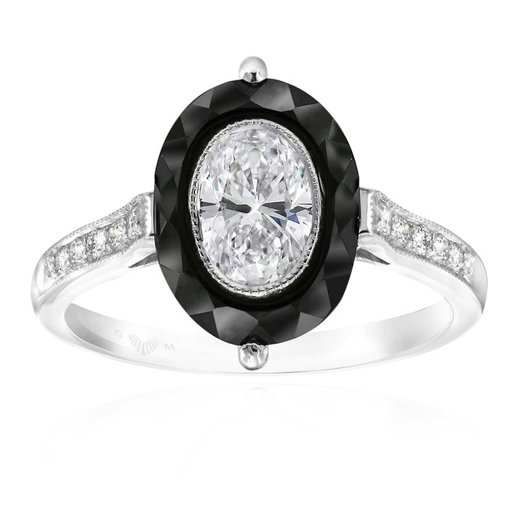 Noir Collection. Onyx and Diamond ring inspired by the Art Deco Jewellery Era. Available at Gerard McCabe. #Diamond #oneoff #gerardmccabe #mccabediamonds #onyx #Noir www.gerardmccabe.com.au