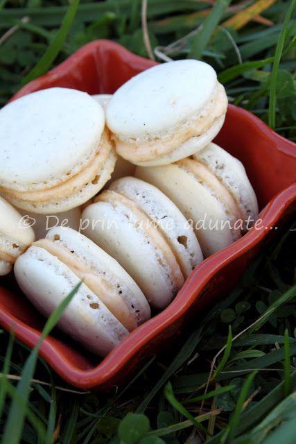 De prin lume adunate...: Macarons cu cardamom si crema de piersici/ Cardamo...