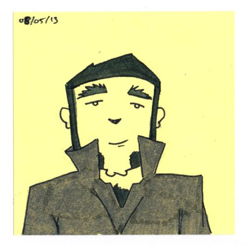 365 #daily #post-it #drawing of a sideburns dude