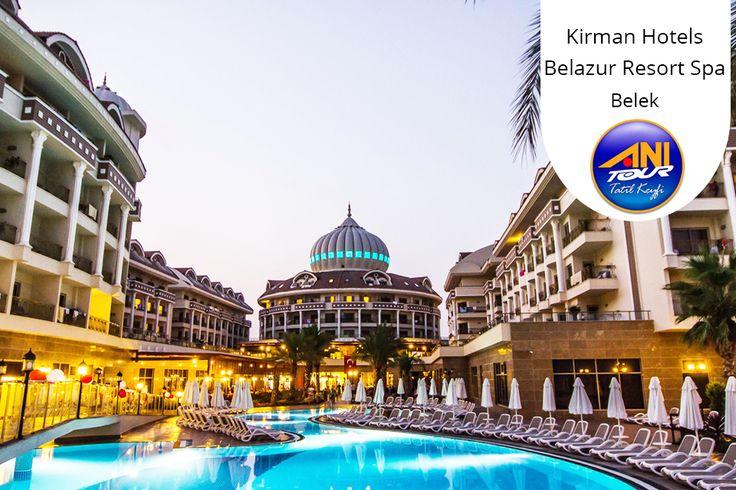 Kirman Hotels Belazur Resort Spa'da Belek'in muhteşem denize sıfır konumu ve aqua parkı ile unutulmaz bir tatile hazır olun. 0-14 yaş 1 ÇOCUK ÜCRETSİZ ve 139 TL'den başlayan fiyatlarla!
