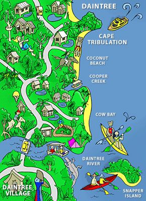 Daintree Comic Map