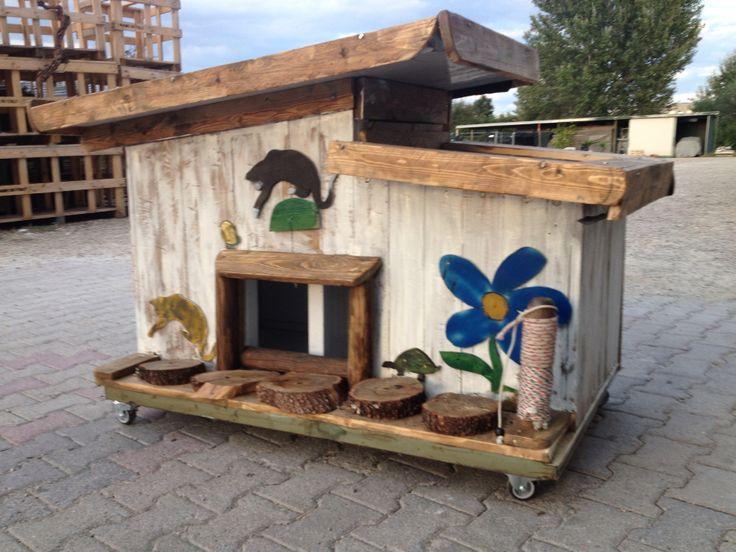 Casetta da giardino per gatti casetta da giardino per - Recinti in legno da giardino ...