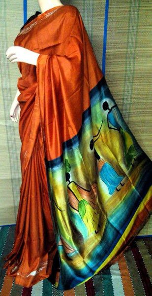Organza silk Handpainted saree