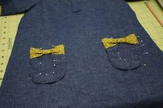How to sew on pockets (really a little girl's dress tutorial, but I need external pockets tuts ;)