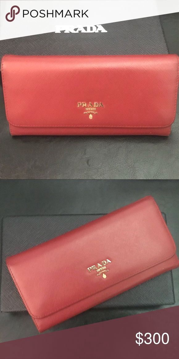 94eca2fd1db4 Prada Saffiano wallet Red Prada Wallet Prada Bags Wallets Amazing Prada  handbag or Prada black handbag then Click visit link above for more info -  designer ...