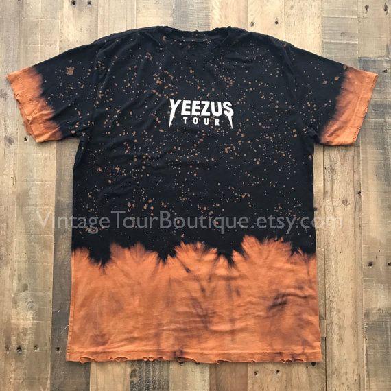 Yeezus Tour gebleicht Distressed Kanye West von VintageTourBoutique