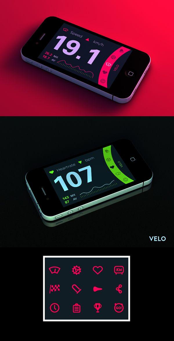 Cardio app #sport #app #health #mobile #design #ux #ui
