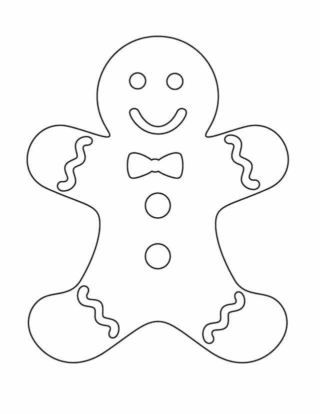 Ginger bread man colouring sheet free printable