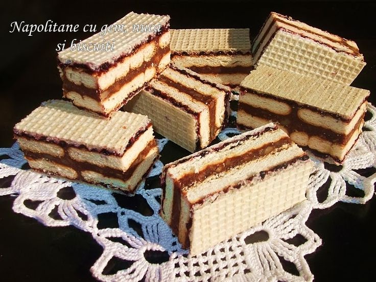 diana's cakes love: Napolitane cu gem, nuca si biscuiti