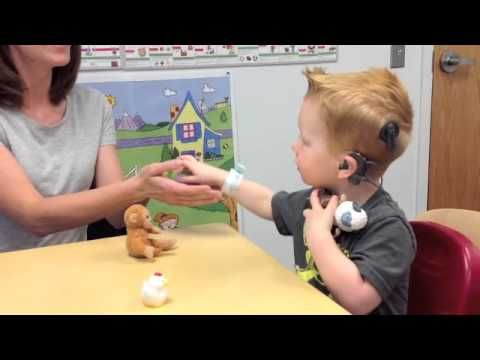 Cochlear Implant Therapy Session - Once we activate a child's cochlear implants, the journey to hearing begins. Come inside for a sneak peek at an ADORABLE session with 3-year-old Blaine and his mom. Just 30 seconds and we guarantee you'll be smiling.  #NationwideChildrens #NCH #CochlearImplants