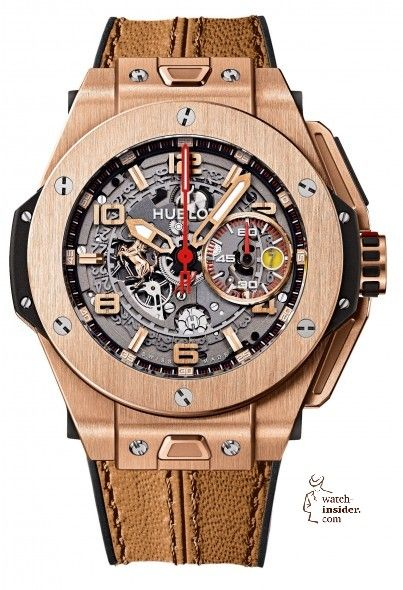 The Hublot Big Bang Ferrari King Gold is limited to 500 pieces; its price: $45,900.