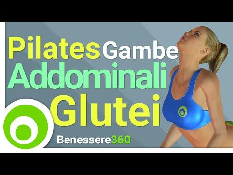 Pilates per Gambe Snelle e Glutei Alti e Sodi - Esercizi per Dimagrire e Tonificare Cosce e Glutei - YouTube