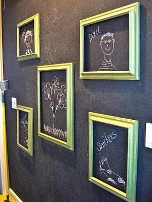Could Use Frames For Their Ever Changing Art Work Blackboard