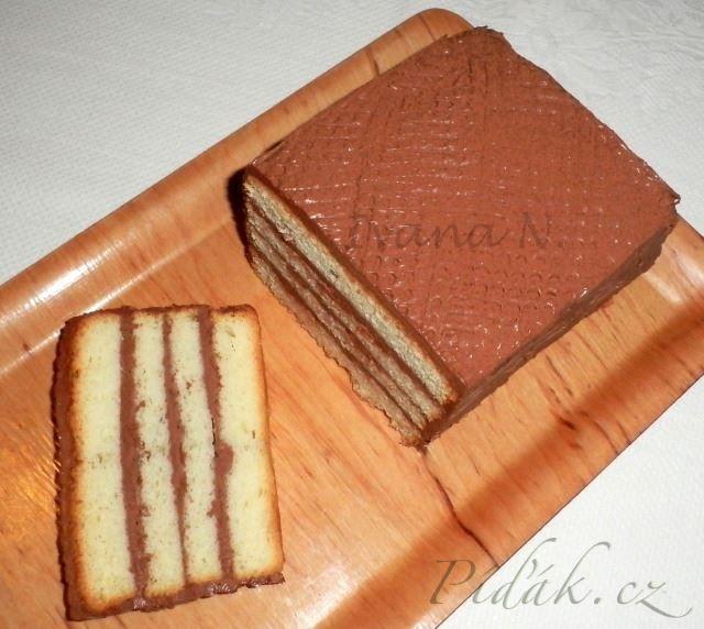 Obrázek z Recept - Bílkový chlebíček s čokoládovým krémem