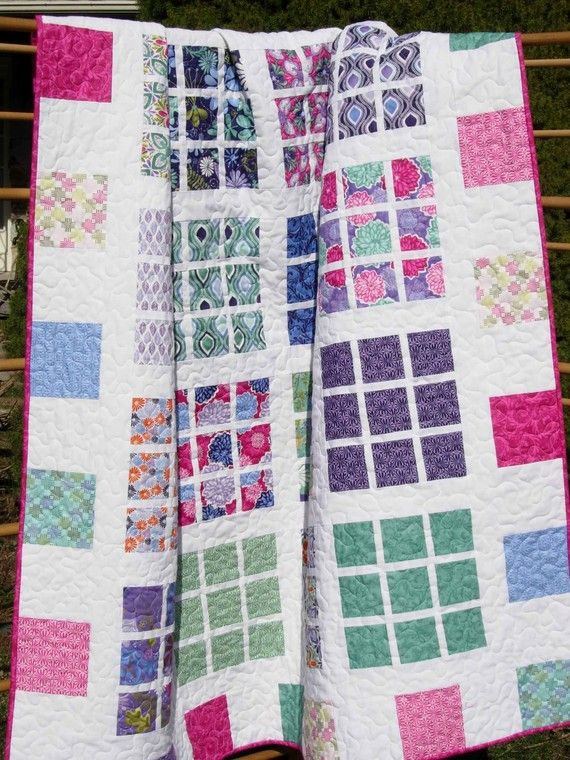 Easy Quilt Patterns Using Layer Cakes : Quilt Pattern - Easy Layer Cake - Fat Quarter Friendly -- PDF INSTANT DOWNLOAD - Apartment Nine ...