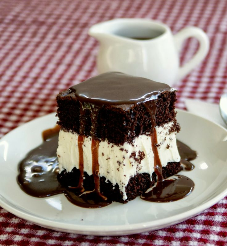 Hot Fudge Ice Cream Cake~ A remake of Bob's Big Boy Classic