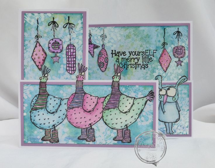 Another Zinis Christmas card. Merry Christmas, Angela xXx
