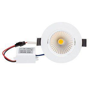 Bloomwin 10pcs/lot LED Ampoule COB Spot Encastrable Dimmable 5W 500lm 220V Blanc Froid 6300-7000K