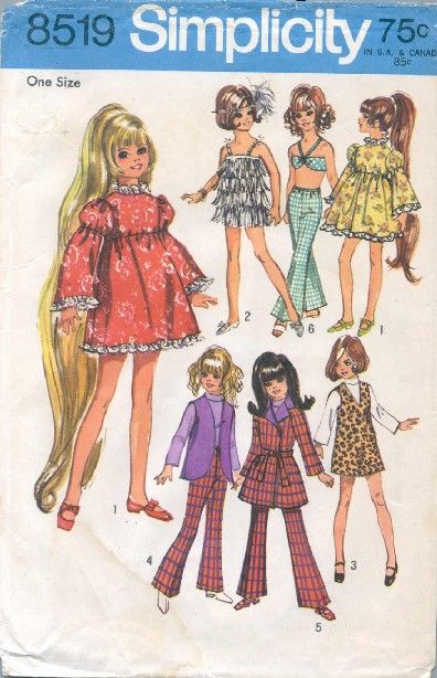 Sewing for Crissy  Free pattern downloads - for vintage CRISSY & VELVET dolls by Ideal  so fun to find!!