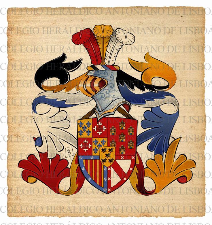 Blog del Colegio Heráldico Antoniano de Lisboa: Escudo cuartelado del Artista Heráldico Beltrán de Meneses
